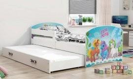 Otroška postelja Luki z dodatnim ležiščem  - 80x160 cm - barva bela