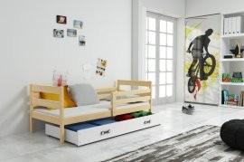 Otroška postelja Eryk - 90x200 cm - bor-bela