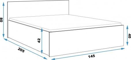 Postelja Panamax - 160x200 cm - 3 barve