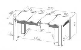 Raztegljiva miza Blanco 33