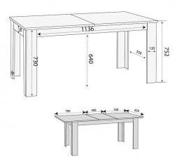 Raztegljiva miza Mocca ST 14001-002