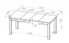 Raztegljiva miza Castel ST 10101-001