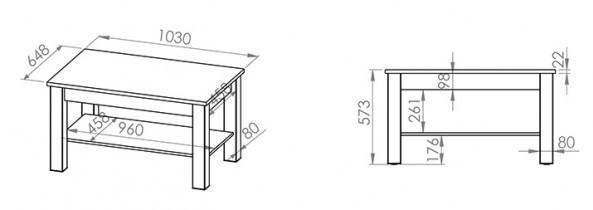 Klubska miza Oliwier ST 10301-001