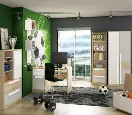 Mladinska soba Drop - svetlo siva