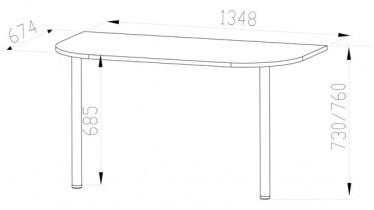 Podaljšek za pisalno mizo Optimal 17