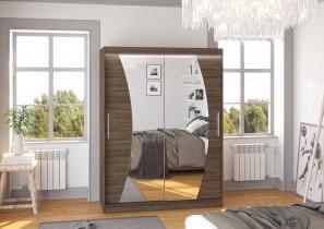 Garderobna omara z drsnimi vrati Modesto 150x200x58 cm