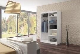 Garderobna omara z drsnimi vrati Salem 120x200x58 cm