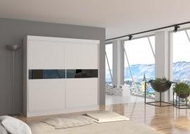 Garderobna omara z drsnimi vrati Malibu 200x200x62 cm
