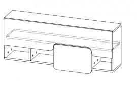 Viseča omarica s polico Yuko Y15