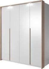 Garderobna omara Xelo 185 z okvirjem in led trakom