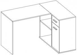 Kotna pisalna miza Begin 60
