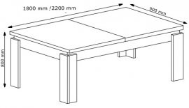 Raztegljiva miza Iron 15