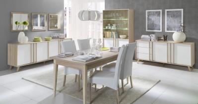 Dnevna soba in jedilnica Malmo - hrast sonoma in beton