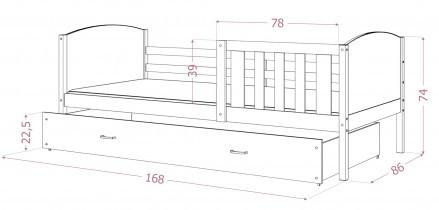 Postelja Tami P graphic - 80x160 cm