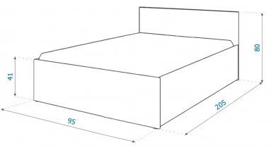 Dvižna postelja Panama plus - 90x200 cm