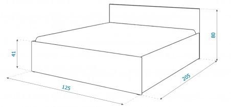 Dvižna postelja Panama plus - 120x200 cm - bela ali siva