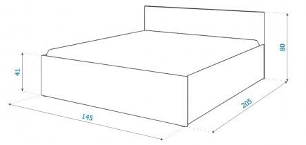 Dvižna postelja Panama plus - 140x200 cm bela ali siva