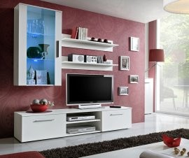 RTV regal Galino E 180 cm - LED - mat