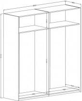 Garderobna omara Moore 200 cm - 209LIO21
