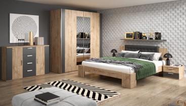 Postelja Rima 160x200 cm + nočne omarice