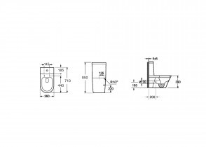 WC školjka Sorrento monoblok