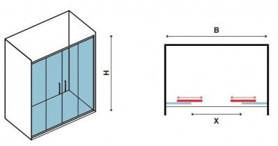 Tuš vrata Minimal 600 160x195 cm