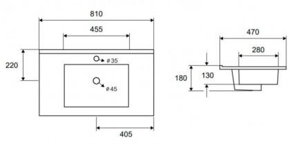 Umivalnik LT 7506-80
