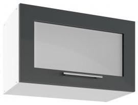 Modul Luna graphite - UPOW 60 - zgornja steklena omarica