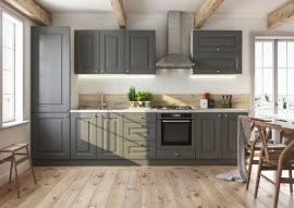 Kuhinja Bella graphite super mat - vsi elementi