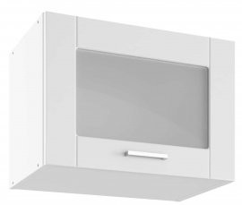 Modul Milano bianco super mat - UPOW 50 - zgornja steklena omarica