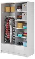 Garderobna omara z drsnimi vrati Aria II 130 sijaj