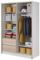 Garderobna omara z drsnimi vrati Sara 150
