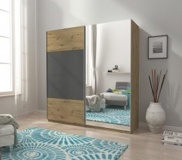 Garderobna omara z drsnimi vrati Mika IX 150