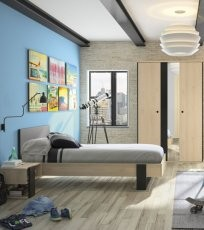 Mladinska postelja Duplex 90x190 cm