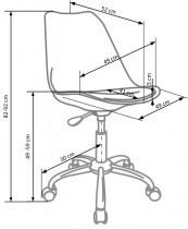 Pisarniški otroški stol Coco 4 - siv