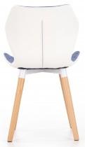 Jedilniški stol K277 - moder/bel