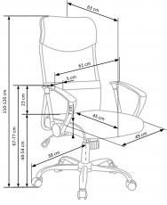 Pisarniški stol Vire - siv