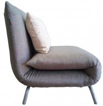 Fotelj z ležiščem Smile sivi