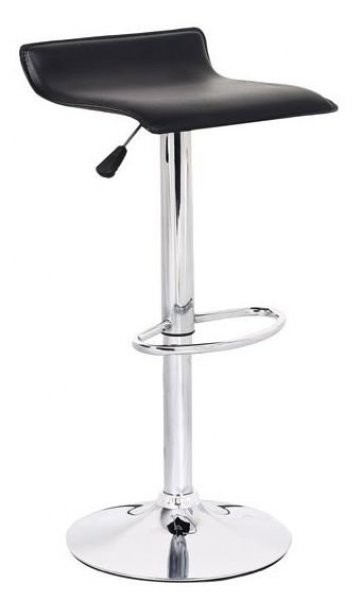 Barski stol Wave črn