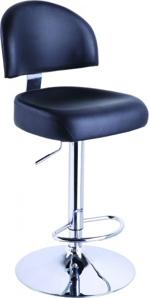 Barski stol Olaf črn