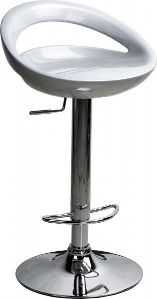 Barski stol Bibi II srebrn