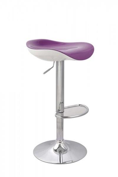 Barski stol Zvezda vijolična+bela
