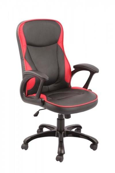Direktorski stol Tomas črn+rdeč