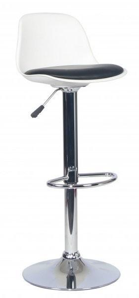Barski stol Perio II bel+črn