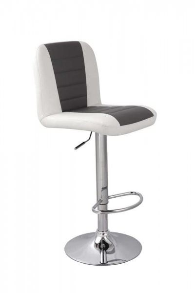 Barski stol BOND sivo-bel