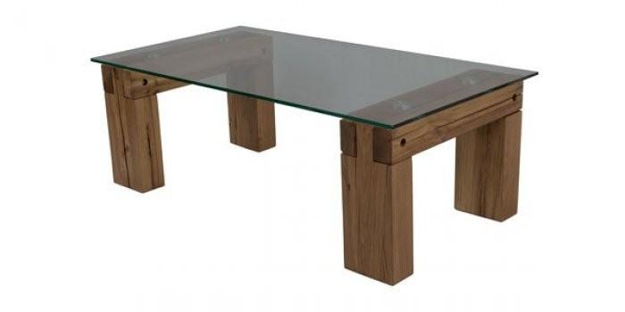 Klubska miza Herkul hrast/sivo steklo