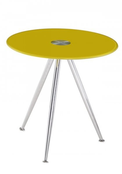 Klubska miza Karlos - rumena