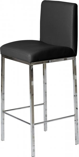 Barski stol Adrian črn