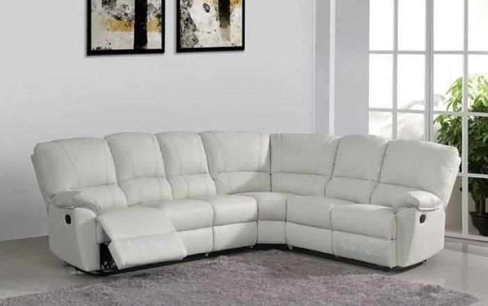 Kotna sedežna garnitura Eleganca bela