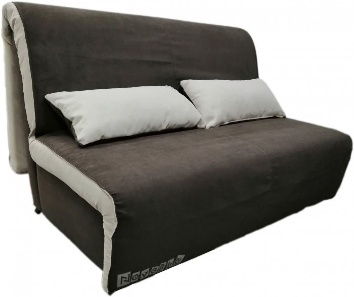 Kavč z ležiščem Novelty 140 cm temno rjav - akcija